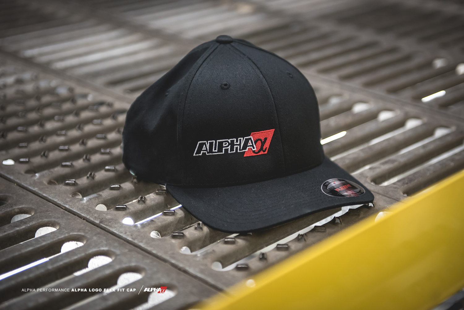 Alpha Performance Fitted Ball Cap  Black  5ac81921621