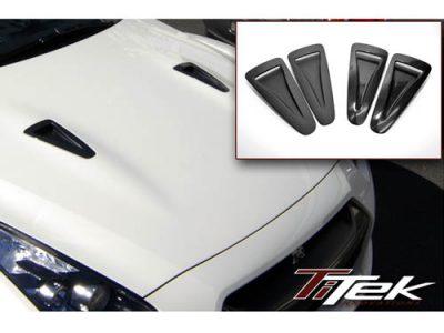 TiTek Nissan R35 GT-R Carbon Fiber Hood Ducts (Gloss) [R35-1001W]