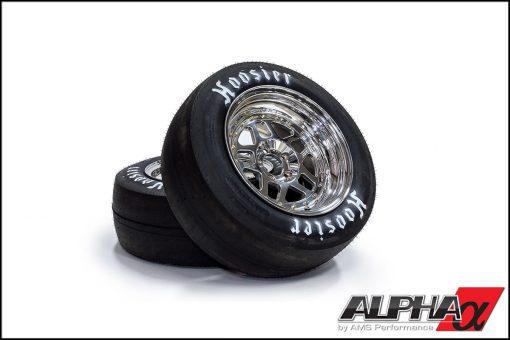 "Alpha Performance R35 GT-R 17"" Drag Wheel & Slick Package"