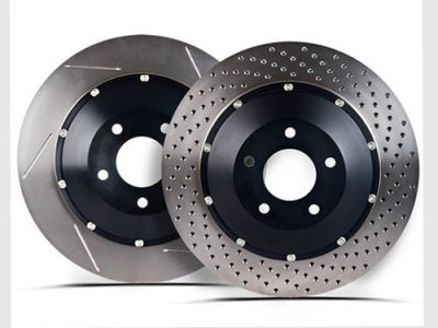 Nissan R35 GT-R Stoptech Slotted 2 PC Replacement Rotor [Rear]