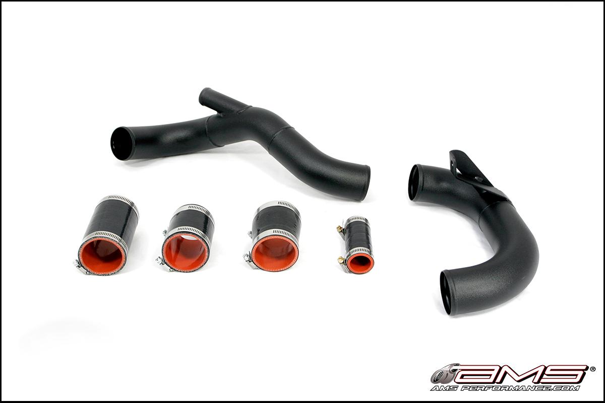 AMS Mitsubishi Lancer Evolution X Lower Intercooler Pipe / Cold Pipe *Black*