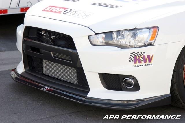 399900 apr mitsubishi lancer evolution x carbon fiber front lip fa 410006