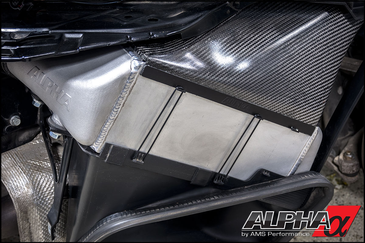 A perfect seal between the carbon fiber shroud and intercooler essential to maintaining effectiveness.