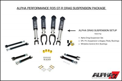Alpha Spec R35 GT-R Drag Suspension Package