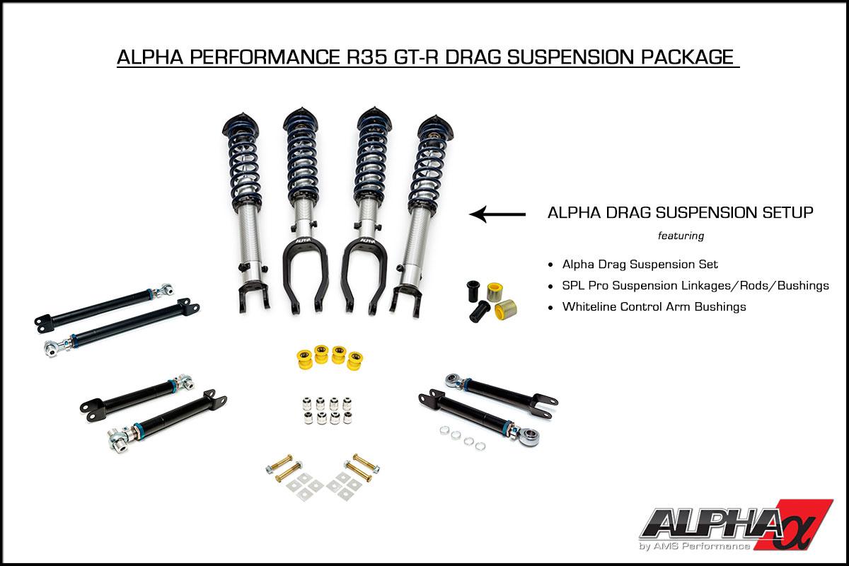 Alpha Spec R35 GT-R Drag Suspension Package