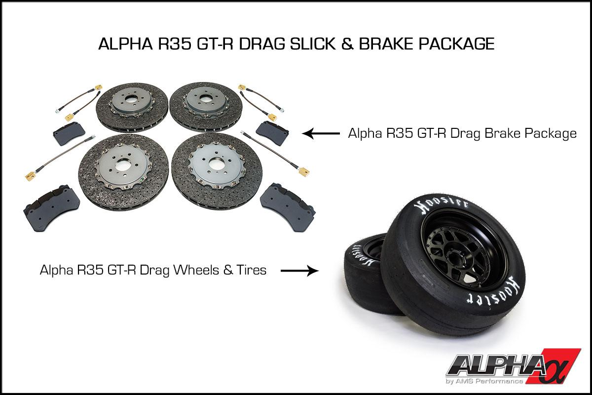Alpha R35 GT-R Drag Slick & Brake Package