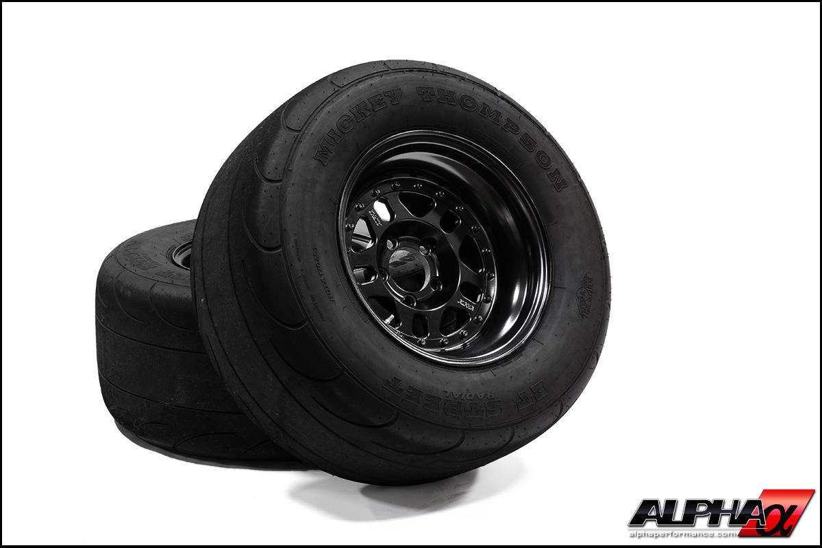 "Alpha Performance R35 GT-R 15"" Drag Wheel & Radial Package"