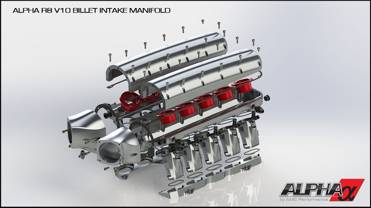 Alpha Performance Audi R8 V10 Billet Intake Manifold