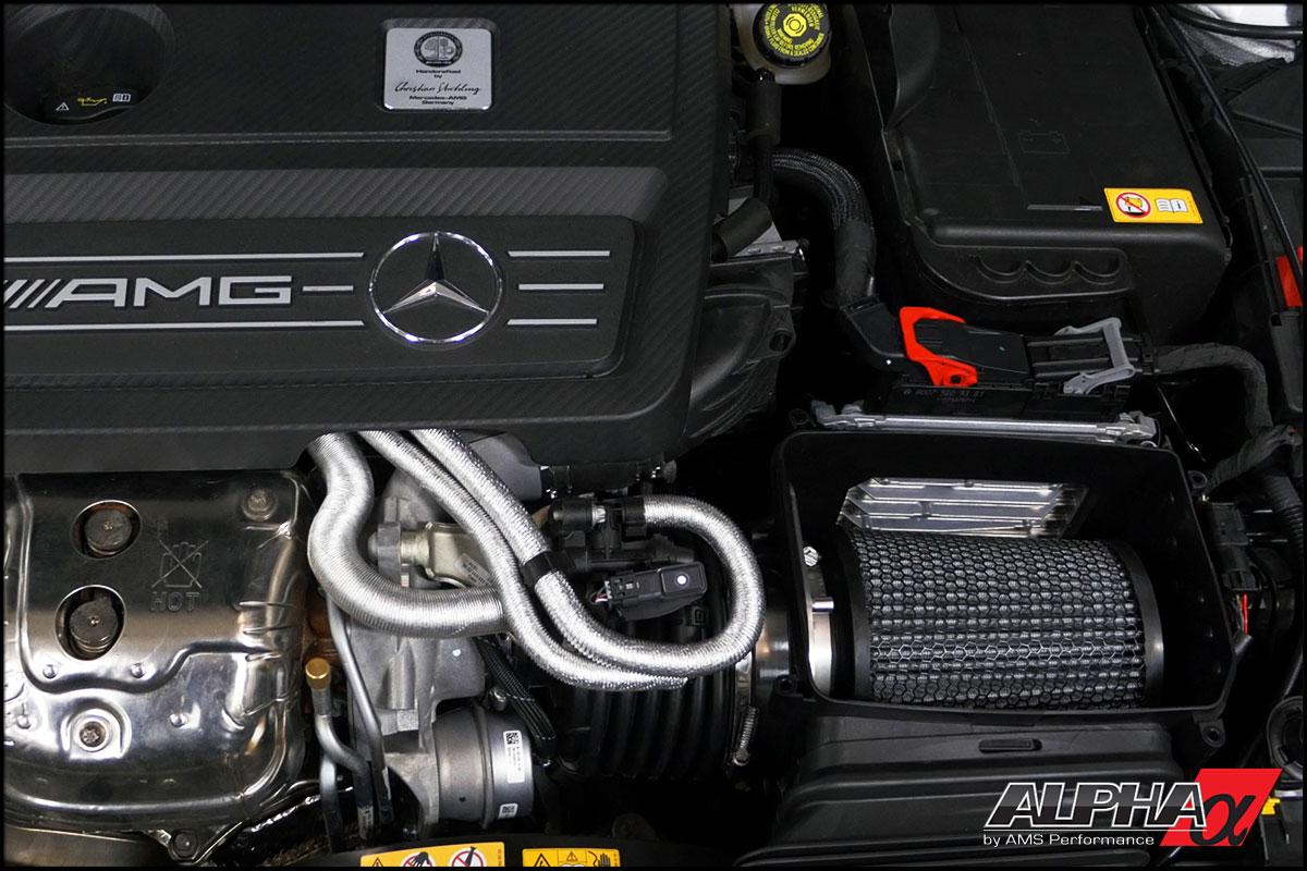 Alpha Mercedes Benz CLA45 AMG Performance Air Filter U0026 CNC Aluminum Adapter