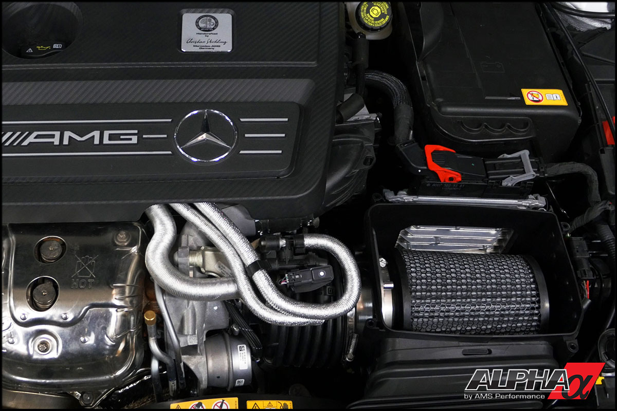 alpha mercedes benz a45 amg performance air intake. Black Bedroom Furniture Sets. Home Design Ideas