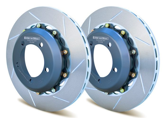 GiroDisc Porsche 997 Turbo (OEM-PCCB) Front 380mm 2 Piece Replacement Rotors [A1-066]