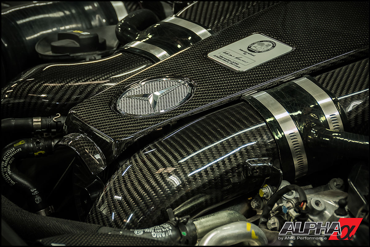 Alpha performance mercedes benz cls63 amg carbon fiber air for Mercedes benz engineering