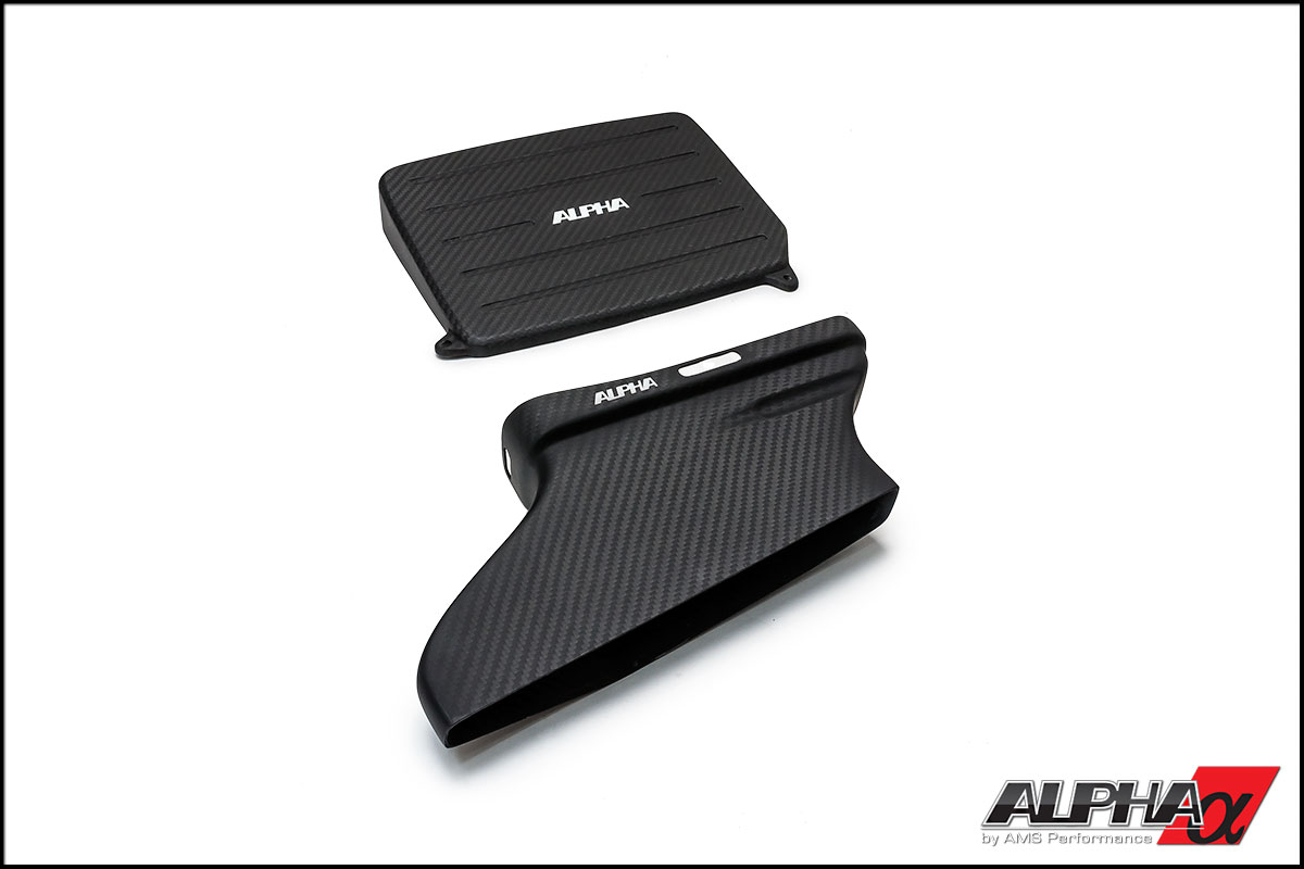 Alpha Mercedes Benz CLA45 AMG Carbon Fiber Cold Air Inlet Duct & Air Box Lid