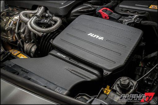 Alpha Mercedes Benz CLA45 AMG Carbon Fiber Cold Air Inlet Duct & Air Box Lid