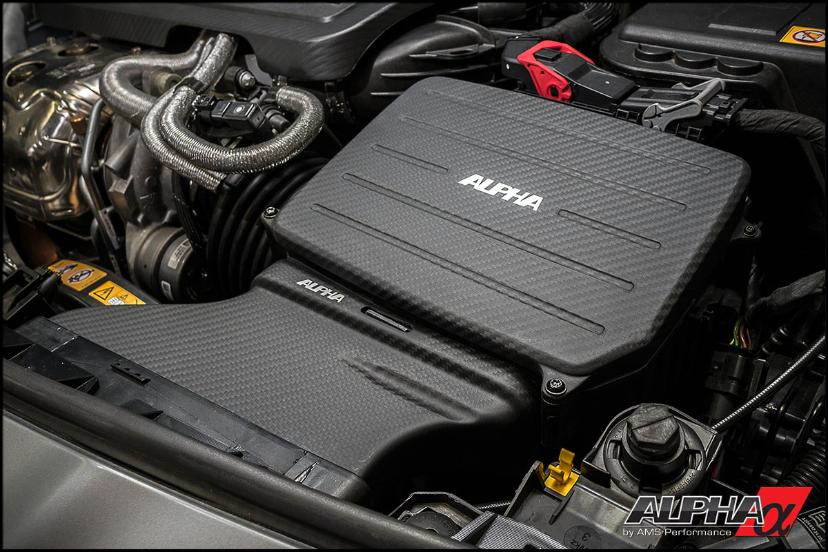 Alpha Performance Mercedes-Benz GLA45 AMG Carbon Fiber Cold Air Inlet Duct & Air Box Lid