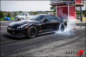 Alpha 12x R35 GT-R on its way to another LOW 8 second pass