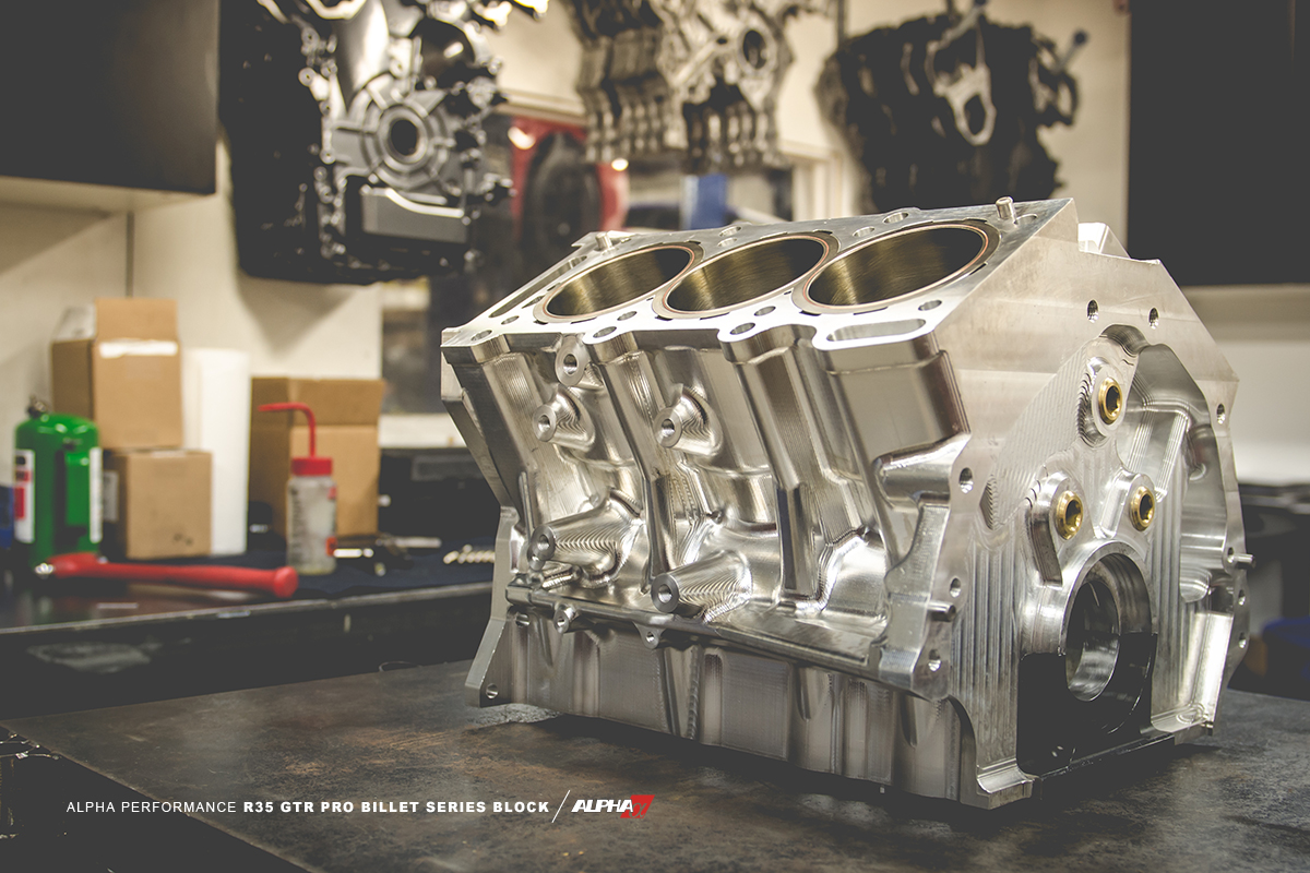 Alpha Performance Nissan R35 GT-R Pro Series Billet Block