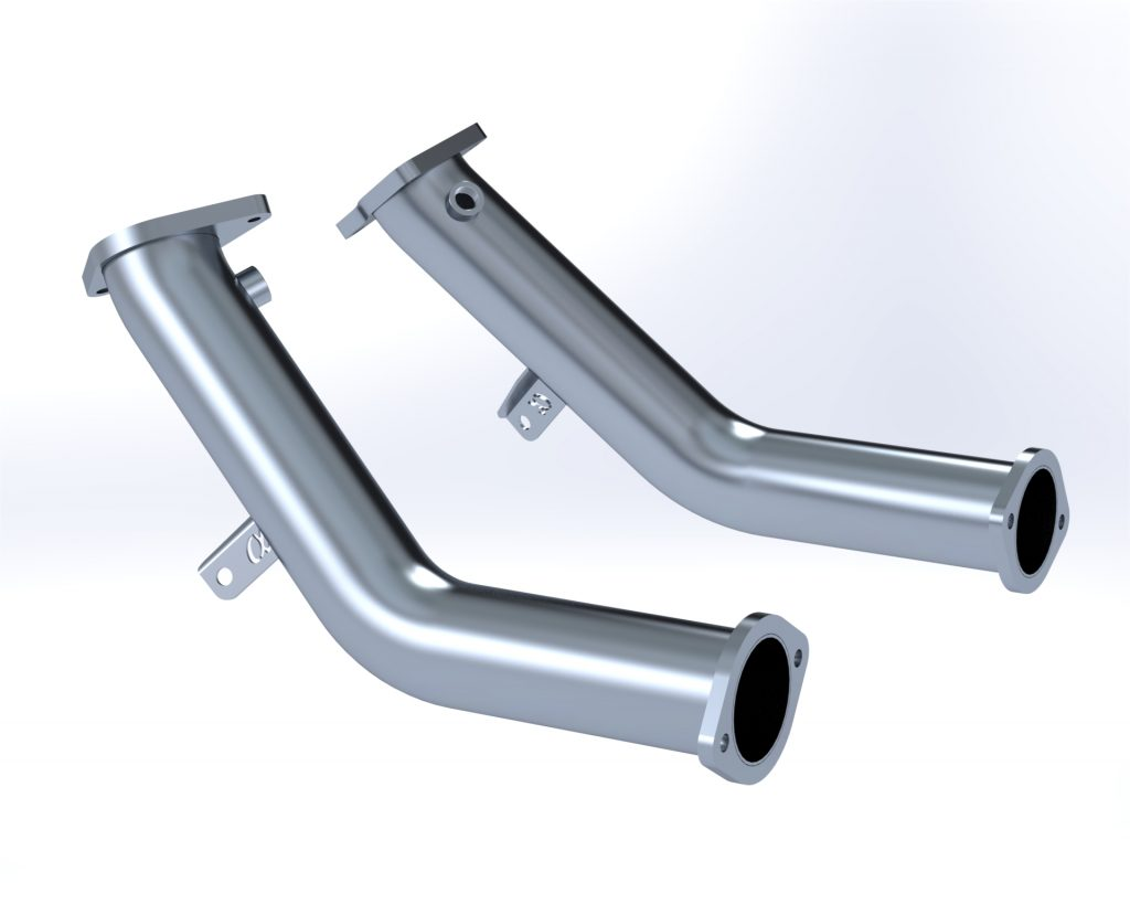 INFINITI Q60 Red Alpha Downpipes