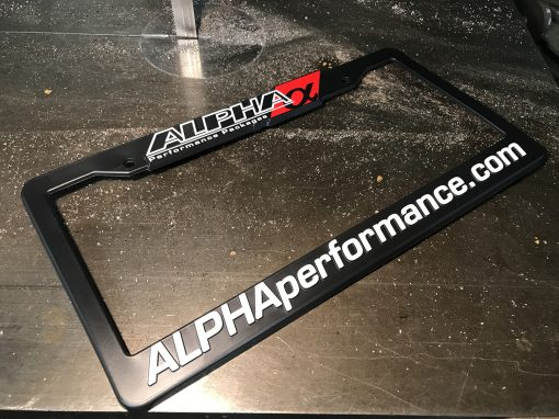 Alpha License Plate Frame