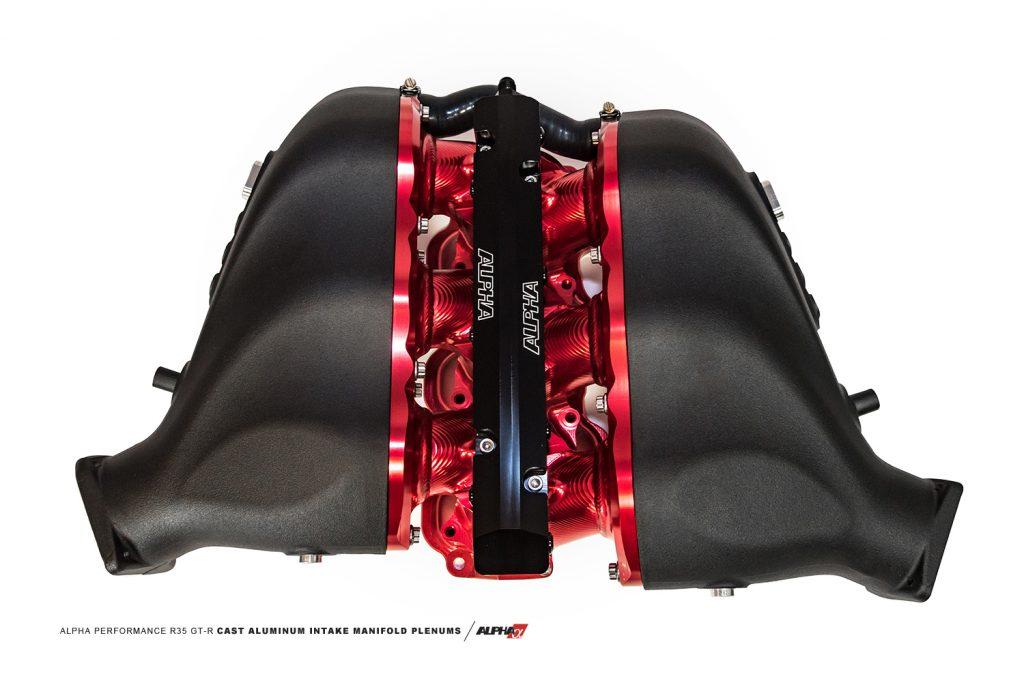 Alpha Performance R35 Cast Aluminum GTR Intake Manifold Plenums