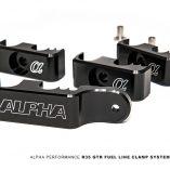 Alpha Performance - Nissan R35 GTR - Fuel Line Clamp System - AMS Performance