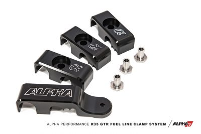 Alpha Performance - Nissan R35 GTR - Fuel Line Clamp System - AMS Performance