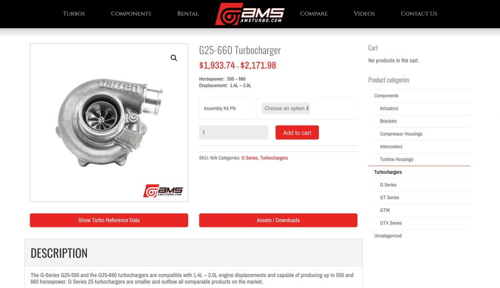 Garrett turbo G series mods upgrade kit
