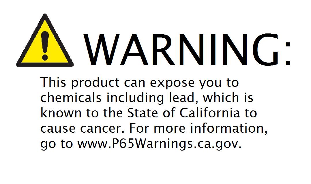 Prop 65 Warning