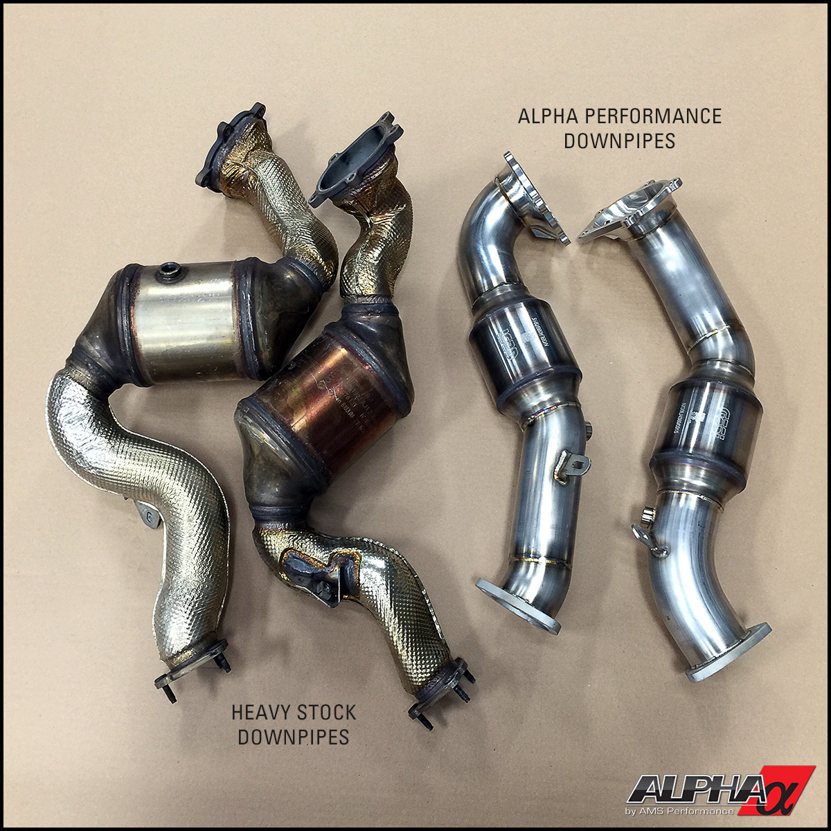 Alpha Performance 2012 Audi C7 S6 S7 Downpipes